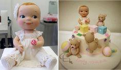 baby girl model baby cake topper by Handi's Cakes