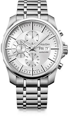 Stainless Steel Automatic Chronograph Watch