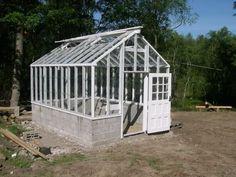 Takstolskonstruktion till växthus