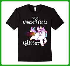Mens My Unicorn Farts Glitter Cute Funny Graphic T-Shirt  3XL Black - Fantasy sci fi shirts (*Amazon Partner-Link)