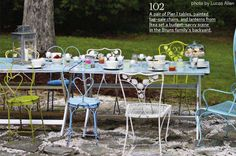 outdoor dinner tables | Space-Saving Outdoor Dining Furniture | At Home with Kim Vallee