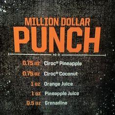 Million Dollar Punch using Ciroc. Had me at coconut!