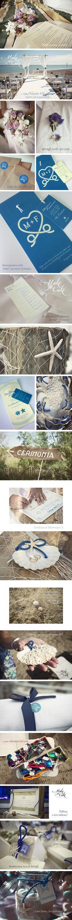 Matrimonio Mare wedding seasidewedding sea wedding ideas inspiration stationery you can find it at www.makeacake.it