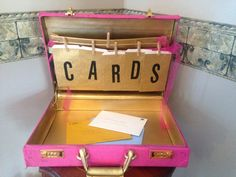 Kate Spade Themed Party -DIY vintage briefcase for all the graduation cards-