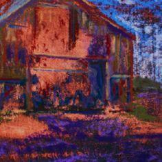 Virginia Tobacco Barn-Pastel and Acrylic - Sandi Graham