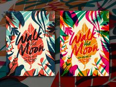 Here's another in our run or posters we've done for Walk the Moon's current tour. Its always fun to execute overprints in screen printing as you don't really know what the the transparent colors wi...