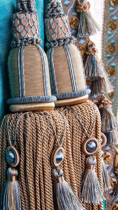 Tips for Knitting Your Own Socks Window Coverings, Window Treatments, Textured Yarn, Beaded Christmas Ornaments, How To Make Ribbon, Passementerie, Curtain Tie Backs, Yarn Crafts, Tassels