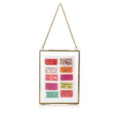 "Buy the 5 x 7"" Gold & Glass Hanging Wall Frame at Oliver Bonas. Enjoy free UK standard delivery for orders over £50."