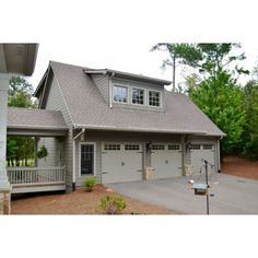 3 car garage with room above to use as office little walk way with over breezeway garage office