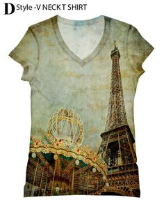 Woman PLUS SIZE Paris Eiffel tower  printed tank top and tshirt by Hellominky XS - 3XL(325) on Etsy, $28.95