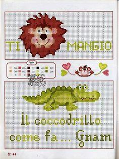 Leone e coccodrillo