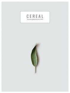Cereal magazine volume 3 cover. Photo by lingered upon.