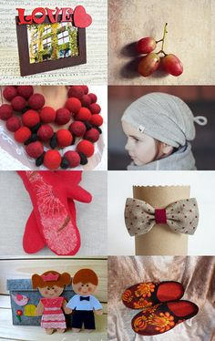 Red felted handmade gifts for family by Svetlana Pershina on Etsy--Pinned with TreasuryPin.com
