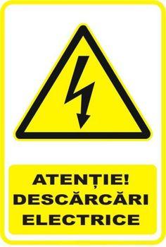 """Indicator de securitate de avertizare """"Atentie Descarcari electrice"""" Lima, Portal, Bar, Logos, Decor, Limes, Decoration, Logo, Decorating"""