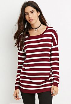 Striped Drop-Sleeve Sweater | Forever 21 - 2000180624  $14.90