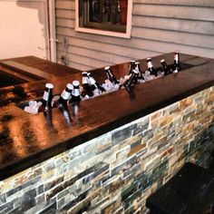 perfect at the edge of the back deck (Party Top Bar Ideas)