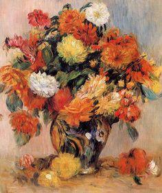Vase of Flowers, 1884.  Renoir