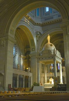 Inside the Basilica of St. Mary in Minneapolis Minnesota. Breathtakingly beautiful!