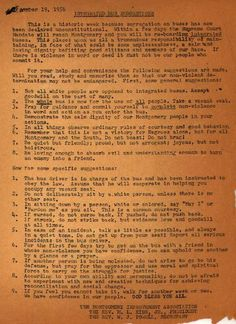 Martin Luther King's instructions to bus riders trying to integrate buses