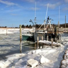 The ridiculously icy state of affairs at rock harbor, Orleans!  It's cold out there.....