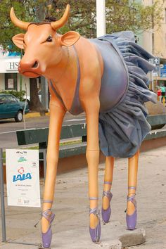Ballerina Cow at the Cow Parade in Guadalajara, Mexico, 2007 - photo by Steven Miller, via Flickr