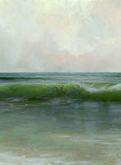 Jacob Collins, Overcast Fire Island, detail, 2012, Oil on panel, 13 x 24 in., Collection of the artist and Adelson Galleries