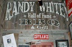 White's Hall of Fame Barbecue (Frisco, Texas) - Randy White