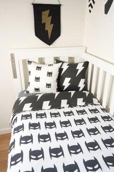 Hey, I found this really awesome Etsy listing at https://www.etsy.com/au/listing/264995554/monochrome-batman-nursery-items