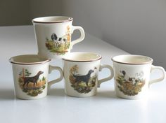 Vintage Taylor International Hunting Dog mugs / by oldstufflove