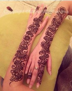Simple Mehndi Designs for every Occasion - SetMyWed Latest Arabic Mehndi Designs, Mehndi Designs Book, Henna Designs Feet, Full Hand Mehndi Designs, Mehndi Designs For Girls, Mehndi Designs 2018, Mehndi Designs For Beginners, Modern Mehndi Designs, Dulhan Mehndi Designs