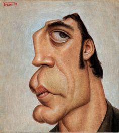 Caricatura de Javier Bardem.