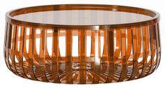 Tavolino Panier Arancione design Ronan & Erwan Bouroullec for Kartell
