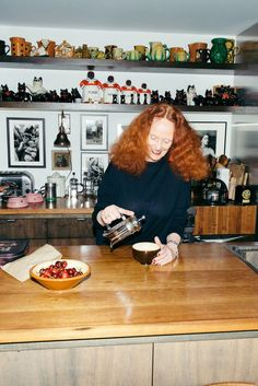 A one-on-one with Grace Coddington has been at the tippy top of our wish-list, until finally, last week, we got a once-in-a-lifetime invitation to visit her at her Chelsea home... [Pause for minor/major freak out.] Which is how we ended up pinching ourselves in Coddington's kitchen while she brewed some decaf coffee and introduced us to her beloved cats Pumpkin and Blanket. | coveteur.com