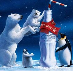 I never get tired of seeing the coca cola bears
