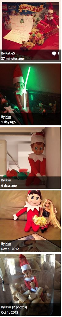 Elf on the Shelf Photo Gallery - Add YOUR photos, too!  #elfontheshelf #elfontheshelfideas