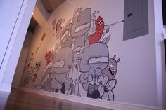 appartment mural ( video + photos) by Astro One, via Behance
