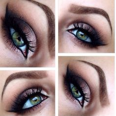 I like the contrasting colours with green eyes