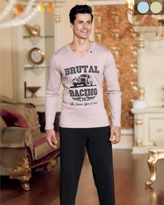 Şahinler V Yaka Baskılı Pijama Takım Graphic Sweatshirt, Sweatshirts, Sweaters, Fashion, Babydoll Sheep, Moda, Fashion Styles, Trainers, Sweater
