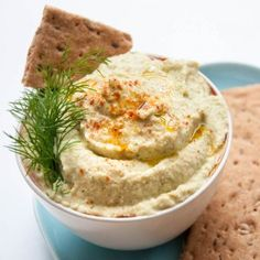 Cucumber Hummus Recipe made with Dill, Chickpeas, and Tahini. Easy, fast, and healthy hummus dip recipe that is a lower in calories than regular hummus.