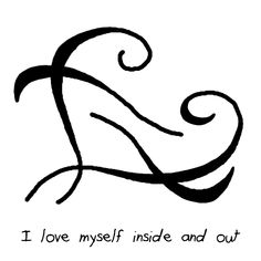"""I love myself inside and out"" sigil                   witchysigils Challenge  Day 8: Put some sigils on/near your mirror for self-love."