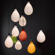 Maarten Baas adds balloon-shaped pendants to lighting range for Lasvit