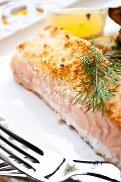 Parmesan Crusted Salmon - drizzle with a little honey just before serving.