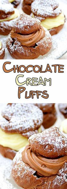 Recipe for Chocolate Cream Puffs - Everyone loves cream puffs, even more if they are chocolate! If you make these, they WILL disappear in a flash!