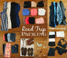 Summer Road Trip Packing List, packing ideas. Exploring My Style blog.