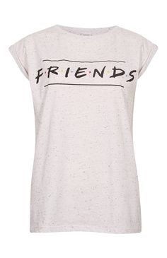 Camiseta «Friends» gris jaspeado