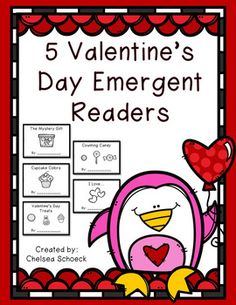 Valentine's Day themed emergent readers in black and white. So easy to prep!