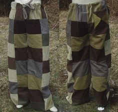 Patchwork Pants Made for you Custom by Braveheartlion on Etsy
