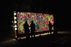 Giant Light Bright interactive environment by Jay Fedoruk. Light art installation