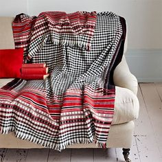 Blanket, Wool Red Striped - Selvedge http://www.selvedge.org/shop/blanket-wool-red-striped