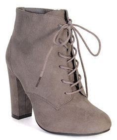 Look what I found on #zulily! Taupe Lace-Up Hilltop Boot #zulilyfinds